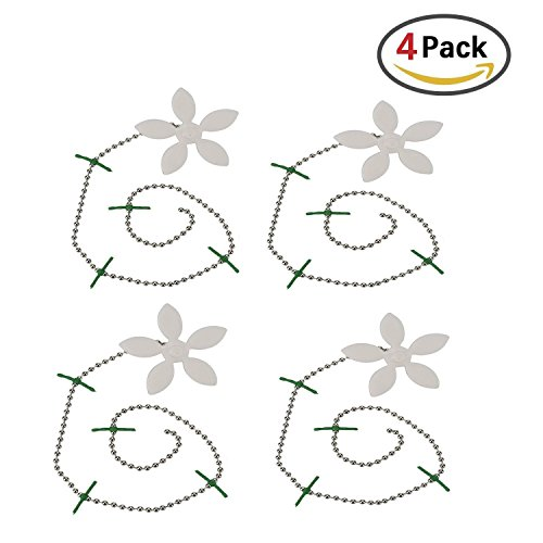 Haarfänger für Abfluss, Yoofit Badewannen Abfluss kette [4 Pack] Haar Blocker, gegen Verstopfen, Haar Entferner, Schutz vor Verstopfen