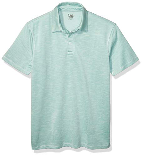 Lee Herren Polo Shirt Short Sleeve Big Tall Regular Poloshirt, Anthony Aqua, Klein -