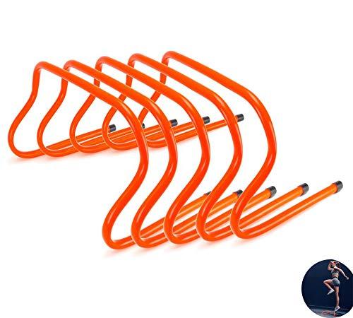 AMhuui Agility Hürden, Ultra Durable Hurdles Speed   Training Plyometric Und Vielseitigkeits Hurdle Fitnessgeräte, 5pcs -