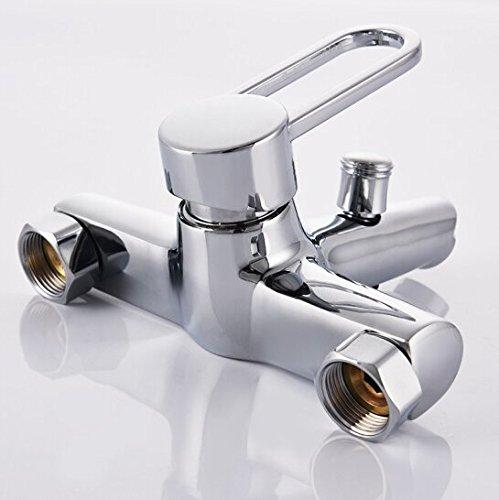GKCSty Alle drei der Kupfer warmes und kaltes Wasser Armaturen Wanne Dusche Wasserhahn Wasser Heizung Wasser Mischventil, bündige - Solide Leben Betrieb