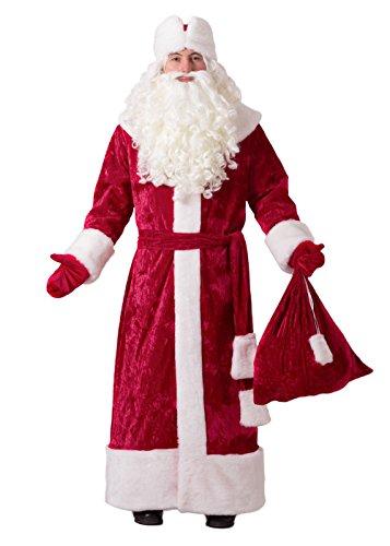 Santa Claus Anzug, Vater Frost, DED Moros, russisch Santa Kostüm Premium Burgund