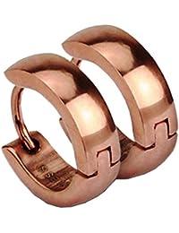 Taffstyle® 1 Paar Edelstahl Ohrringe Creolen in verschiedenen Farben plattiert
