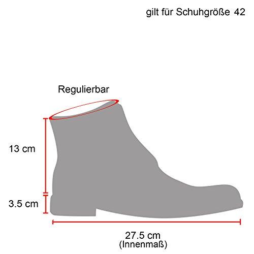 Stiefelparadies Herren Worker Boots Leicht Gefütterte Schuhe Schnürboots Outdoor Schnürschuhe Profilsohle Wildleder-Optik Schnürer Flandell Weiss Camiri