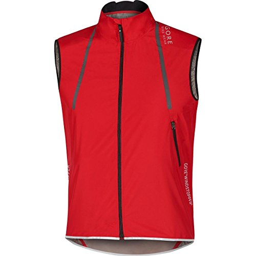 Gore BIKE WEAR Chaleco Ciclismo Carrera para Hombre, WINDSTOPPER Active Shell, OXYGEN WS AS Light Vest, Talla S, Rojo, VWAOXY350003