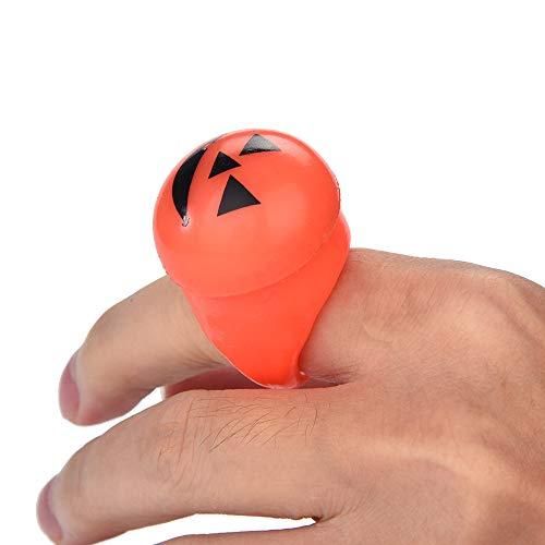 LED Light Halloween Flash LED Licht  Kürbisse Finger Ring Hallowmas Party Requisiten (Kürbis)