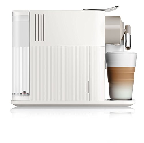 De'Longhi 0132193272 Latissima One Single Serve Coffee Machine, 1400 W, 1 Liter, Silky White