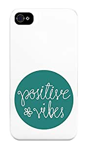 The Fappy Store Positive Vibes Plastic Back Cover For Iphone 4 & 4S