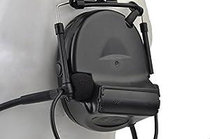 Nouveau Camouflage Headp Comtac II Tactical casque audio Réduction de bruit électronique Capture du son de sécurité Cache-oreilles avec micro
