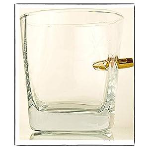 HandMade Whiskyglas mit realem Projektil Cal.308 TrinkGlas mit Kugel