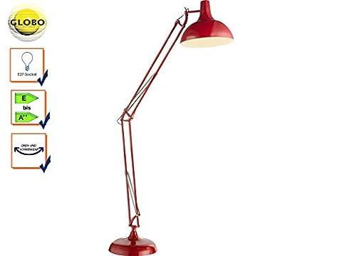 Moderne Stehleuchte Tischleuchte Lampe rot Globo 58315