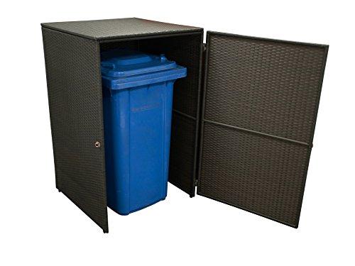 Mülltonnenbox bis 120 Liter aus Polyrattan Geflecht