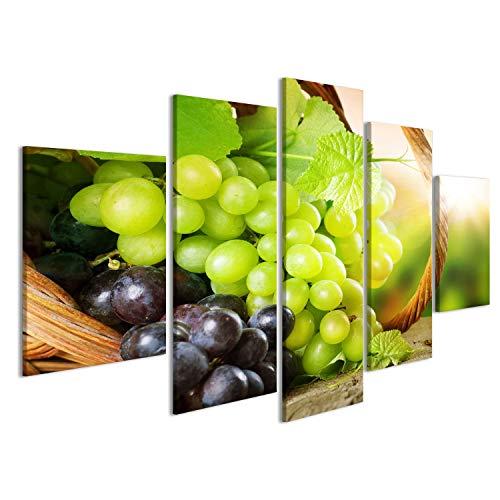 islandburner Bild Bilder auf Leinwand Grape.Grapevine über Weinberghintergrund Wandbild, Poster, Leinwandbild IWJ