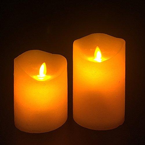 Marfil Blanco flickling llama LED vela luz para Navidad y todas las estaciones (10cm * 8cm)
