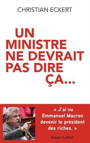 Un ministre ne devrait pas dire ça.