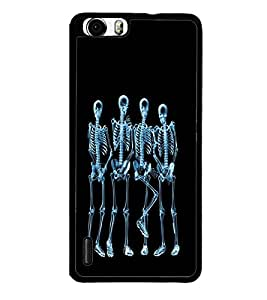 printtech Funny Xray Skeleton Back Case Cover for Huawei Honor 6x