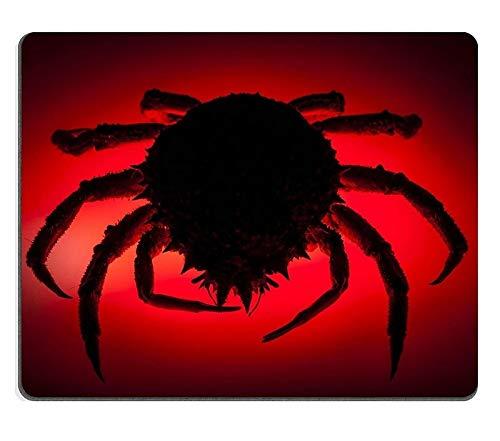 Cojín de ratón Gaming Mouse Pad Scary Silueta Rojo Efecto retroiluminado en...