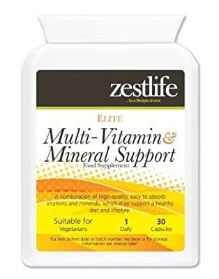 Zestlife Multi-Vitamin and Mineral Daily Vitality Support 30 capsules | with Siberian Ginseng,Ginkgo Biloba and Royal Jelly. by Zestlife