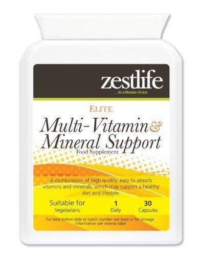Zestlife multi - vitamine e minerali giornaliero Vitalità Support 30 capsule | con Ginseng Siberiano, Ginkgo Biloba e Pappa Reale