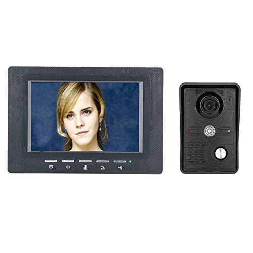 WG 7 Zoll Video Door Phone Doorbell Intercom Kit 1-Kamera 1-Monitor Night Vision mit IR-Cut CMOS 700TV Lines Cmos Video Door Phone
