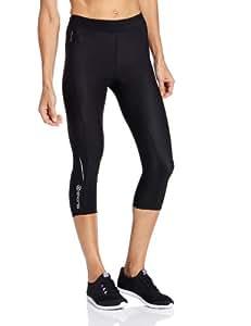 SKINS A200 Womens Capri Tights - Black/Black, X-Small