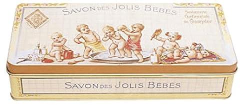 boite metal decorative 19x9x4 cm savon des jolis bebes
