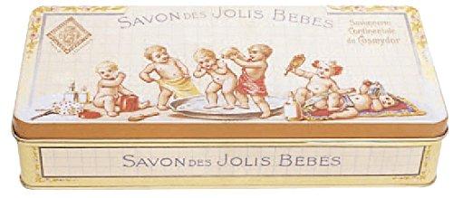 French Classics boite metal decorative 19x9x4 cm savon des jolis bebes