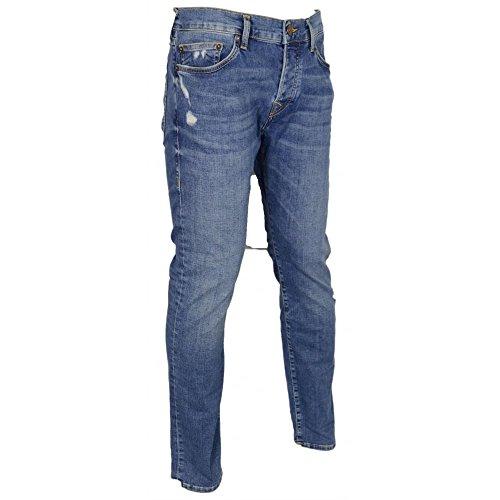 True Religion Rocco Broken Twill Blue Jeans - 32