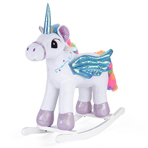 Unicorn Toys For Kids : Children s rocking horse unicorn kids sparkly magical