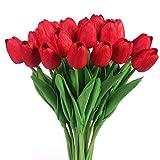 Características:Látex de alta calidad con sensación real al tacto.Altura del tulipán: 33cm, altura de la cabeza de la flor: 7cm.Se sugiere comprar 2 paquetes para hacer que parezcan un ramo completo. Colocándolas en un jarrón lucen muy bonit...