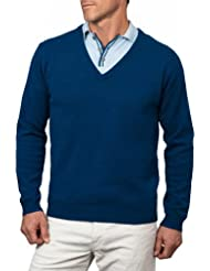 Wool Overs Pull col V homme en laine d'agneau
