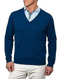 Wool Overs Pull col V homme en laine d'agneau