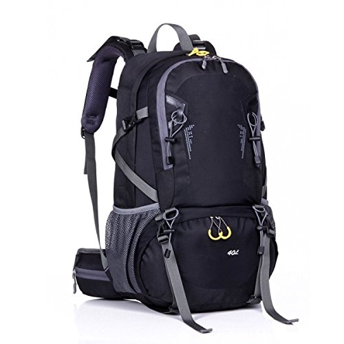 Rucksack Rucksack Wandern Outdoor Bergsteigen Reisen Casual Daypack Hochleistungs-Taschen,Orange Black