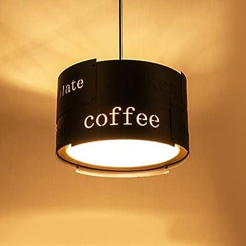 MILUCE Industrial Fountain Creative Creative Lifestyle Restaurant Lights Vintage Cafe Chandelier ( Color : Black