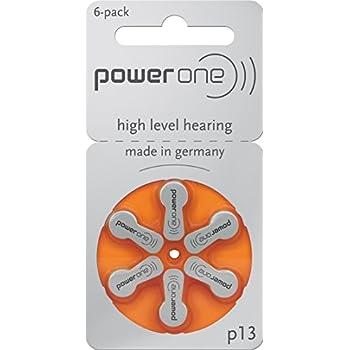 60 x PowerOne Hörgeräte Batterien Varta Typ 13-PR48-V13 300 mAh Orange NEW