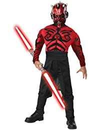 Rubies Kost-me Star Wars Deluxe Muscle Chest Darth Maul Kinderkost-m Medium - 8-10 - ca.128cm