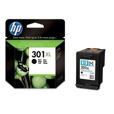 HP 301XL Black Ink Cartridge - Cartucho de tinta para impresoras (Negro, Negro, Inyección de tinta, 20 - 80%, -40 - 60 °C, 15 - 32 °C) No
