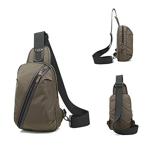Männer Frauen Qualitäts beiläufige Daypack Wasserdichtes Oxford Sling Bag Umhängetasche Brusttasche Unbalance Gym Fanny Rucksack-Rucksack-Beutel für die Reise im Freien Fahrrad Braun