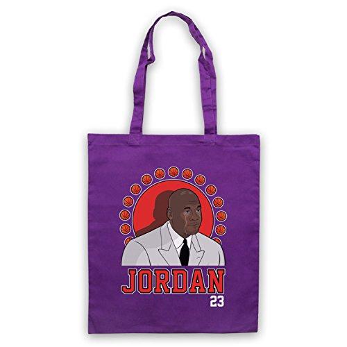 Ispirato Da Piangere Jordan Michael Jordan 23 Basketball Award Non Ufficiale Viola Capo
