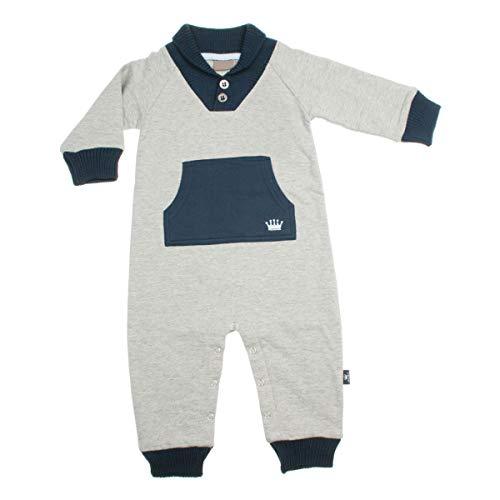 Hust & Claire - Combinaison Garçon Combinaison pour bébé Baby Mode Einteiler Joueurs Playsuit avec Poignets en Tricot Graumeliert - Gris -