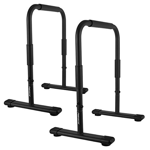 MSPORTS Dip Barren Fitness Parallettes Premium (Paar) 80x65 cm | Push Up Stand Bar I Dip Station I Fitness Rack