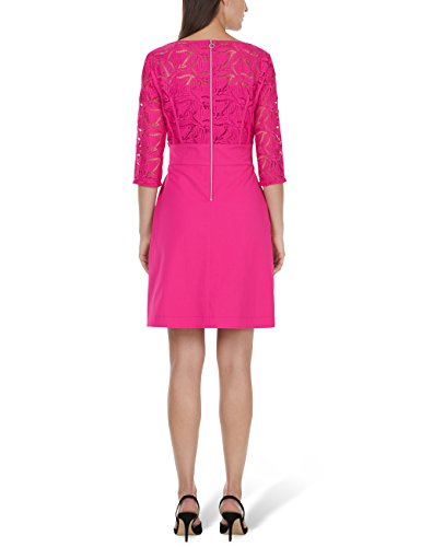Marc Cain Collections Damen Kleid Mehrfarbig (Pop Pink 268)