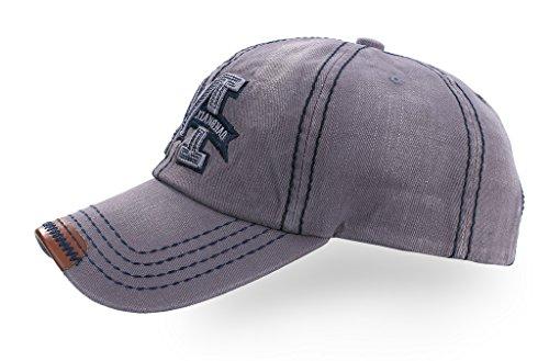 Imagen de 4sold  de béisbol, diseño de pentagrama para hombre  de moto, sombrero de estilo antiguo m navy brown silver talla única alternativa