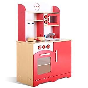 Spielzeug B-WARE Kinderküche Spielküche Holz Kinderspielküche Holzküche Spielzeugküche