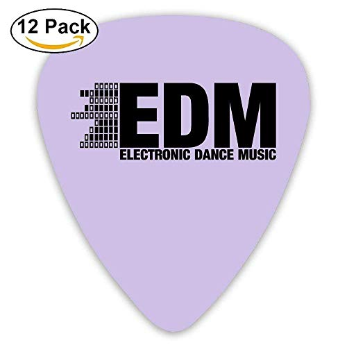 Custom Guitar Picks, Jewelry Gift For Guitarist Acoustic Guitar -Electro  Dubstep Edm Music Dance Electronic Minimal,12 Pack