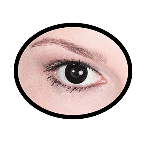 Maskworld SMI416099(2) Kontaktlinsen/Tageslinsen, Unisex- Erwachsene, schwarz (Blinde Seher Kostüm)
