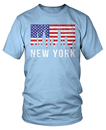 Men's New York City Skyline American Flag T-Shirt S