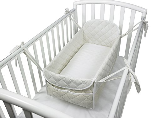 Reductor de cuna para bebé, color beige