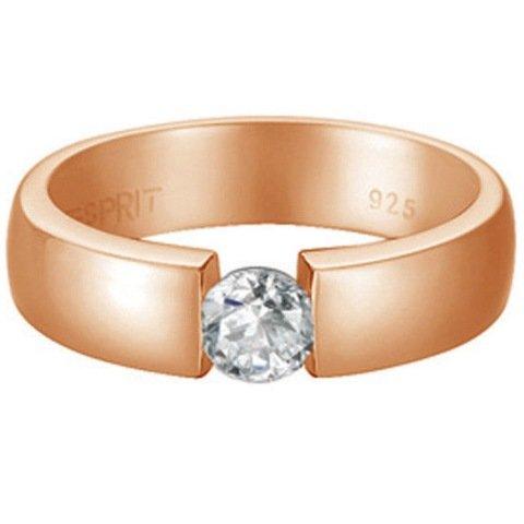 Esprit Jewels Damen-Ring 925 Sterling Silber Solitaire rose Gr. 50 (15.9) ESRG91983B160