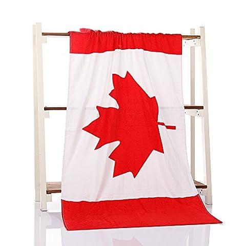 CLG-FLY Badetuch/Handtuch Baumwolle Handtücher drucken Handtuch,Kanada Flagge Strand Handtuch,70x140