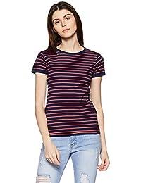 Amazon Brand - Symbol Women's Striped Regular Fit T-Shirt